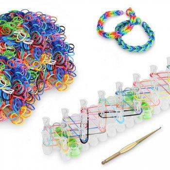 Atelier Bracelets Loom - 600 élastiques, métier et crochet
