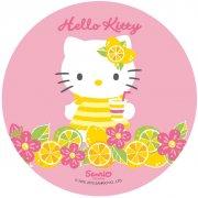 Disque azyme Hello Kitty Fleurs