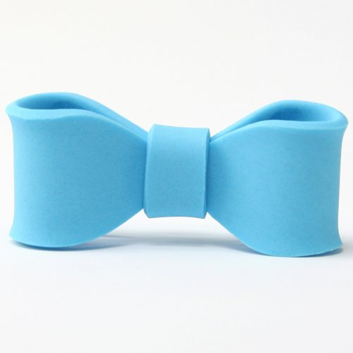 Petit Noeud en Sucre Bleu