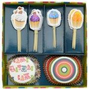 Kit 24 Caissettes et Déco Cupcakes Delicious