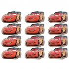 12 Voitures Cars pré-découpées en pâte à sucre
