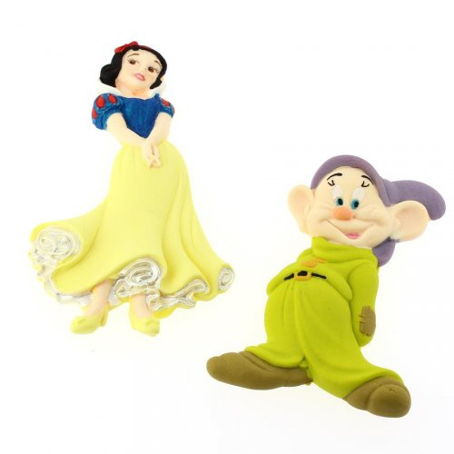 Figurines Déco Blanche-Neige + 1 nain