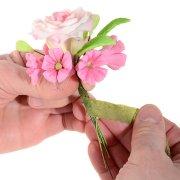 Ruban vert pour fleurs