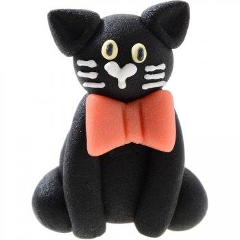3 Chats noirs en pâte d amande
