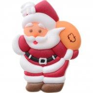 4 Père Noël et sa hotte à plat en sucre