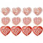 Set de 12 décors en pâte à sucre Coeurs