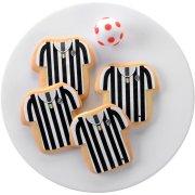 12 Maillot Foot Juventus pré-découpés en pâte à sucre