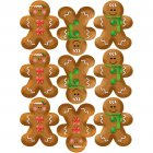 9 Stickers � Biscuits Bonhomme en pain d'�pices