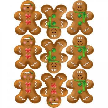 9 Stickers à Biscuits Bonhomme en pain d épices
