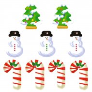 9 Stickers � Biscuits No�l Sweet