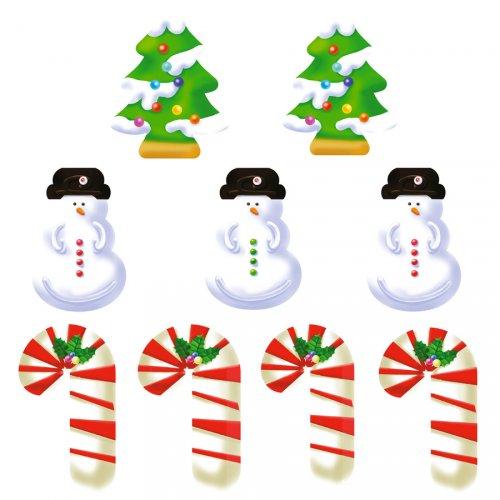 9 Stickers à Biscuits Noël Sweet