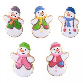 3 Biscuits Décorés Bonhomme de Neige
