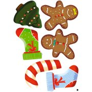 6 Stickers � Biscuits No�l Fun
