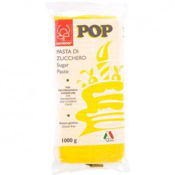 Pâte à sucre Pop 1kg - Jaune