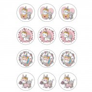 12 Petits Décors Licorne  - Sucre