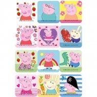 12 Petits Décors Peppa Pig (6 cm) - Sucre