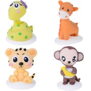 4 Figurines Baby Animaux de la Jungle en Sucre