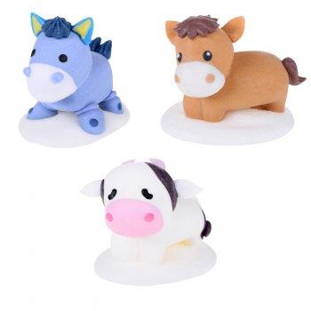 3 Figurines Animaux de la Ferme en Sucre