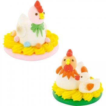 Duo de Pâques Coq et Poule
