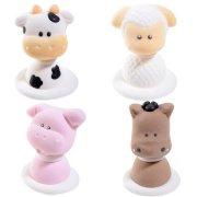 4 Figurines Baby Animaux de la Ferme en Sucre