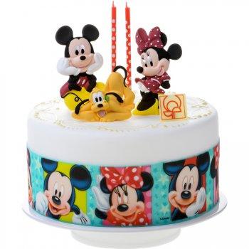 Ruban pâte à sucre Mickey-Minnie