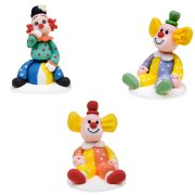 3 Figurines Clowns en sucre
