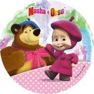 Disque en sucre Masha et Michka