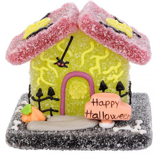 Maisonnette Halloween en sucre gélifié