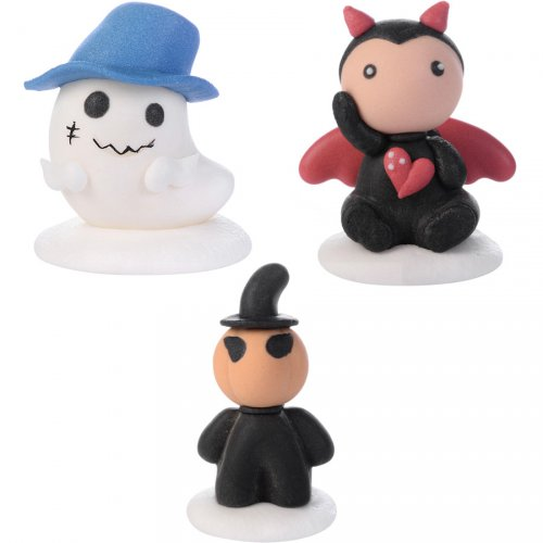 3 Figurines en Sucre Halloween