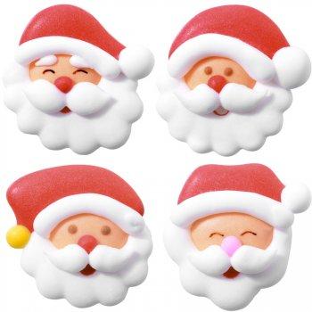 4 Mini Décors Père Noël (2,5 cm) en Sucre