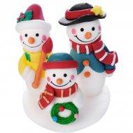 Famille 3 Bonhommes de Neige (6 cm) - Sucre