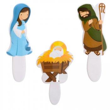 3 Décors Crèche de Noël (8 cm)