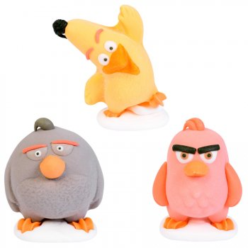 3 Figurines Angry Birds 3D (4 cm) - Sucre