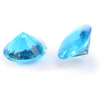 20 Mini Diamants Bleu (1 cm) - Gélatine