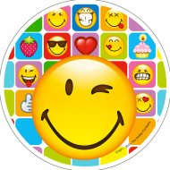Disque en Azyme Smiley (21 cm)