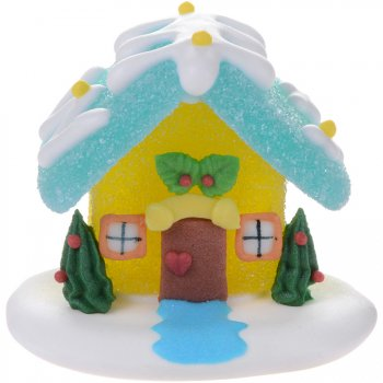 Maisonnette Noël en sucre gélifié (6 cm)