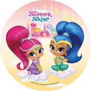 1 Disque Shimmer et Shine (21 cm) - Sucre