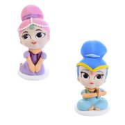 2 Figurines Shimmer & Shine 3D (7 cm) - Sucre