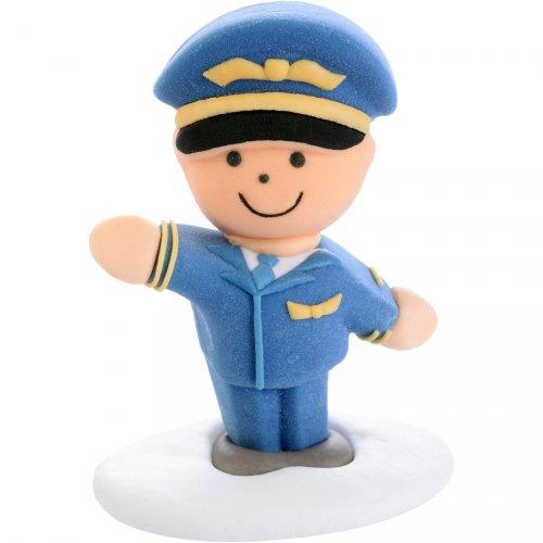 Figurine 3D Pilote (6 cm) - Sucre