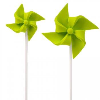 2 Moulins à Vent à piquer (4 et 7 cm) - Vert