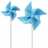 2 Moulins à Vent à piquer (4 et 7 cm) - Bleu