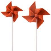 2 Moulins à Vent à piquer (4 et 7 cm) - Rouge