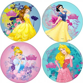 1 Disque Princesse Disney (21 cm) - Azyme