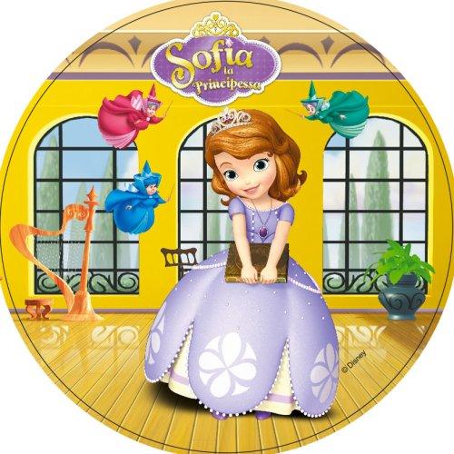 1 Disque Princesse Sofia (21 cm) - Azyme