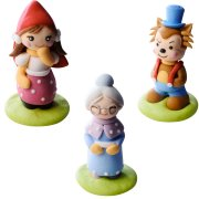 3 Figurines Petit Chaperon Rouge 3D (5,5 cm) - Sucre