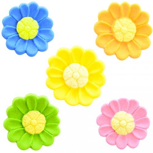 5 Fleurs Dahlia Couleurs (2,8 cm)