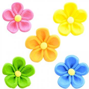 5 Fleurs Primevères Couleurs (2,5 cm)