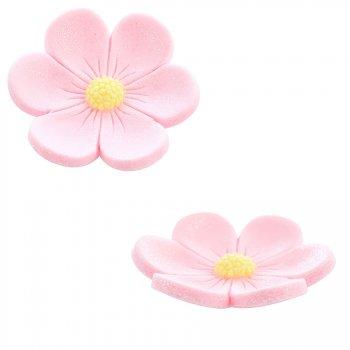 2 Fleurs Anémones (3,4 cm et 2,2 cm) - Rose