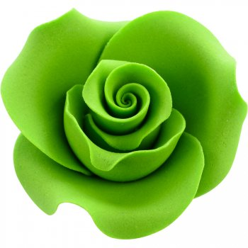 1 Rose Verte 3D (4 cm)