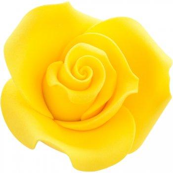 1 Rose Jaune 3D (4 cm)